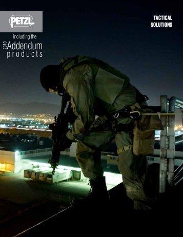 Petzl Tactical Solutions Brochure 2010 - Rescue Response Gear