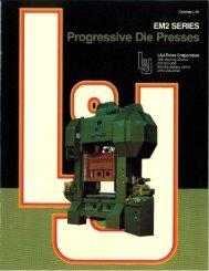 L & J Progressive Die Presses Brochure - Sterling Machinery