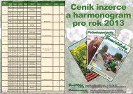 Ceník inzerce a harmonogram pro rok 2013 - Zemědělský týdeník