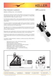 Data Sheet HPX Calibrator - Keller AG