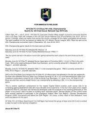 U15 Boys ASL Champs, Qualify for US Club National ... - NY ELITE FC