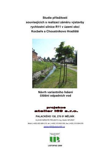 Návrh variantního řešení čistění odpadních vod - Královéhradecký kraj