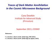 Traces of dark matter annihilation in the cosmic microwave ...