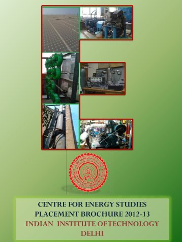 2012-2013 - Centre for Energy Studies - Indian Institute of ...