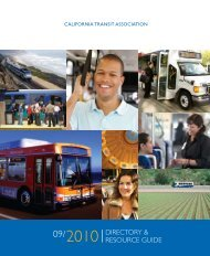 DIRECTORY & RESOURCE GUIDE - California Transit Association