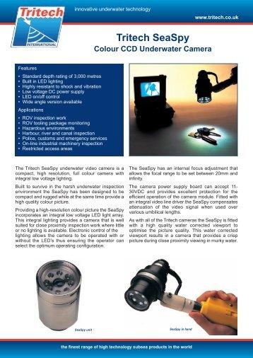 Tritech SeaSpy - Colour Underwater Video ... - Marine Solutions