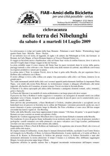 nella terra dei Nibelunghi - Amici della Bicicletta di Verona