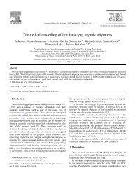 Theoretical modelling of low band-gap organic oligomers
