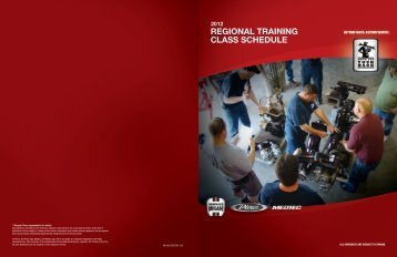 REGIONAL TRAINING CLASS SCHEDULE - Pierce Manufacturing