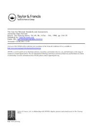 Case for National Standards - Buffalo State College Faculty and ...