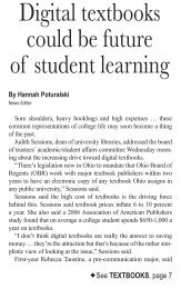 Digital textbooks could be future of student learning