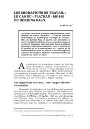 plateau » mossi du burkina faso - Recherches internationales