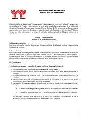 INSTITUTO DEL FONDO NACIONAL DE LA VIVIENDA ... - Infonavit
