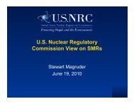 U.S. Nuclear Regulatory Commission View on SMRs - Berkeley Nuclear ...