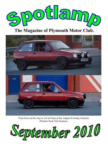 Spotlamp September 2010.pub - Plymouth Motor Club