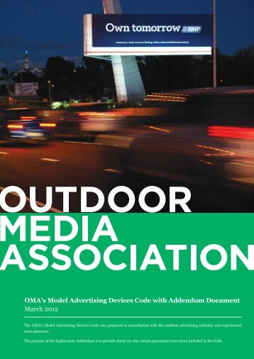 OMA's Model Advertising Devices Code - Outdoor Media Association