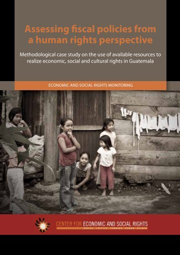Assessing fiscal policies from a human rights perspective