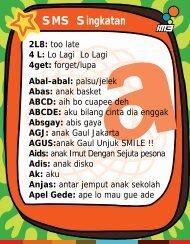 kamus sms m3