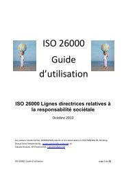ISO 26000 Guide d'utilisation - ISO 26000, an estimation