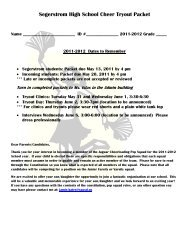 Segerstrom High School Cheer Tryout Packet