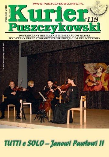 Kurier 118-fonty.indd - Stowarzyszenie Przyjaciół Puszczykowa