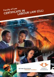 CERTIFICATE IN LABOUR LAW (CLL)