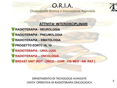 Dipartimento delle Tecnologie Avanzate - Radioterapia ... - Biblioteca