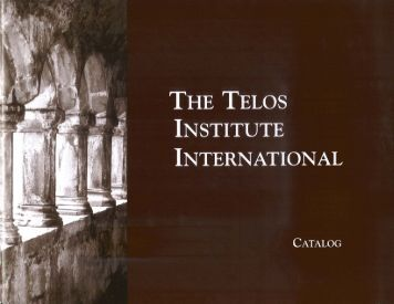 Catalog - Telos Institute International