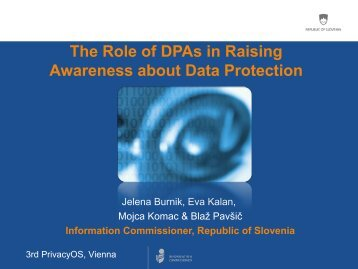 The Role of DPAs in Raising Awareness about Data ... - PrivacyOS