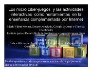 uso de los micro ciber-juegos y el avalúo del aprendizaje - UPRM