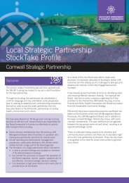 Cornwall Strategic Partnership - South West Councils