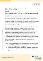 Interaktive Werkstatt – Hilfe für die Gefährdungsbeurteilung - BGW ...