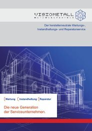 Die neue Generation der Serviceunternehmen. - VISIOMETALL