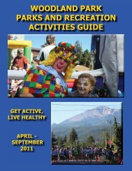 woodland park parks and recreation activities guide - City of ...