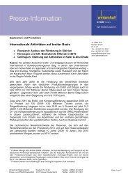 Internationale Aktivitäten auf breiter Basis - Wintershall AG