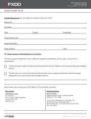 Hesap Transfer Formu - Fxdd.com
