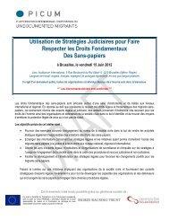programme provisoire - PICUM