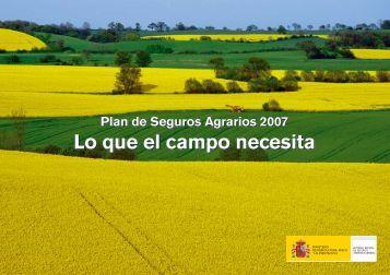 Lo que el campo necesita - Ministerio de Agricultura, Alimentación y ...