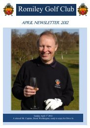 Click here to read April 2012 newsletter - Romiley Golf Club