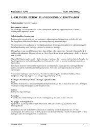 lærlinger. behov, planlegging og kostnader - Nordlandssykehuset