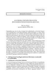 Az Európai Unió költségvetési jogi szabályozásának kialakulása - IAS