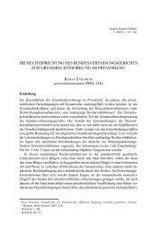 die rechtsprechung des bundesverfassungsgerichts zur ... - IAS
