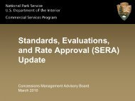 Standards, Evaluations, and Rate Administration - National Park ...