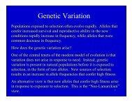 Genetic Variation.pdf - Nicholls State University