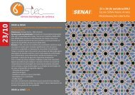 23 a 26 de outubro/2012 Escola SENAI Mario Amato