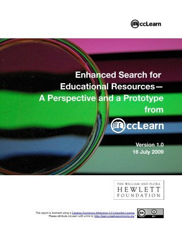 Enhanced Search for Educational Resources - Creative Commons