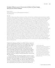 Stratégies d'Influence pour la Conservation du ... - Yale University
