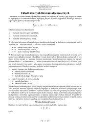 Metody numeryczne cz. 1 - Instytut Metod Komputerowych w ...