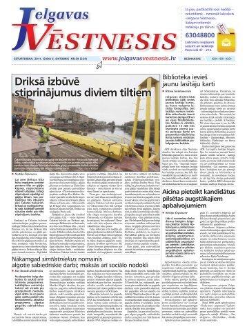 2011.gada 6.oktobris Nr.39(224) - Jelgavas Vēstnesis