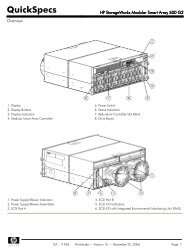 HP StorageWorks Modular Smart Array 500 G2